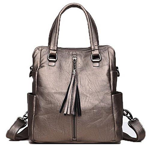 Oro VogueZone009 Borse CCALBP180917 Shopping di cerniere tela Donna Luccichio Zaini Casuale wvFrxTwq