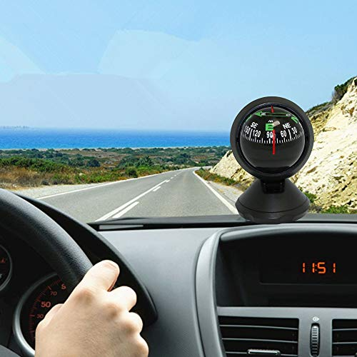 ❤️MChoice❤️Car Compass Car Guide Ball Compass Night Vision Travel Outdoor Survival