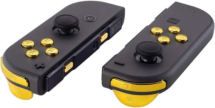 eXtremeRate Botones para Nintendo Switch Botón ABXY Botón de Dirección Botón de Disparador Resorte reemplazo Teclas SR SL L R ZR ZL con Herramientas para JoyCon, No Incluye Carcasa(Oro Cromo): Amazon.es: Electrónica