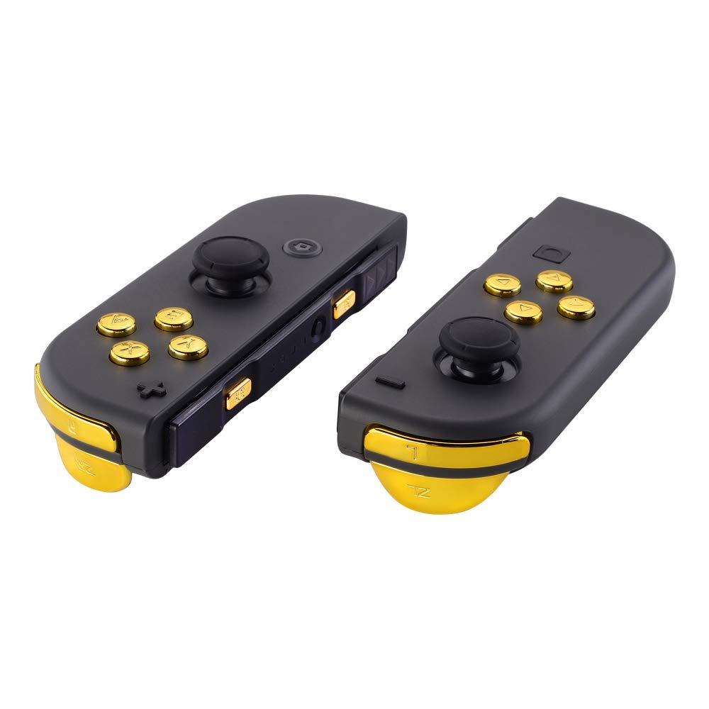 eXtremeRate Botón de ABXY Dirección Disparador y Resorte reemplazables Botones Conjunto Completo con Herramientas para Nintendo Switch Joy-con JoyCon ...