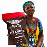 Raw African Shea Butter 16 oz. Ethically produced, 100% Natural, Plant Based, Vegan, Wild harvested, Pesticide- & Chemical Free, Unrefined, Ivory, Premium Grade A