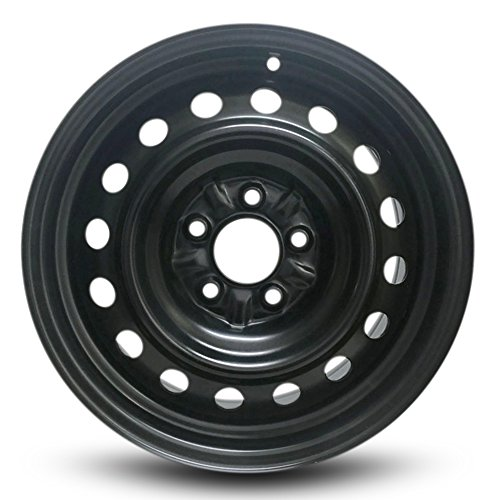 Road Ready Car Wheel For 2006-2010 Hyundai Sonata 16 Inch 5 Lug Black Steel Rim Fits R16 Tire - Exact OEM Replacement - Full-Size Spare
