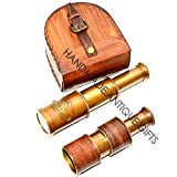 Nautical Gift Decor Astronomy Handheld Brass Telescope Pirate Navigation Antique Spyglass Affordable Gift! Item.