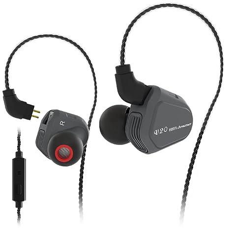 docooler TRN V20 3.5mm Wired In Ear Cuffie 1DD + 1BA Hybrid Driver HiFi  Musica 2e80ed6b414e