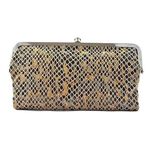 hobo international genuine leather double frame clutch wallet diamond snake - Double Frame Clutch Wallet