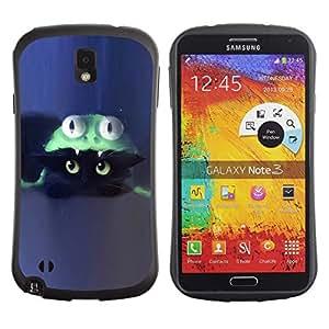 """Pulsar iFace Series Tpu silicona Carcasa Funda Case para Samsung Note 3 , Gato Disfraz Gatito azul lindo"""""""