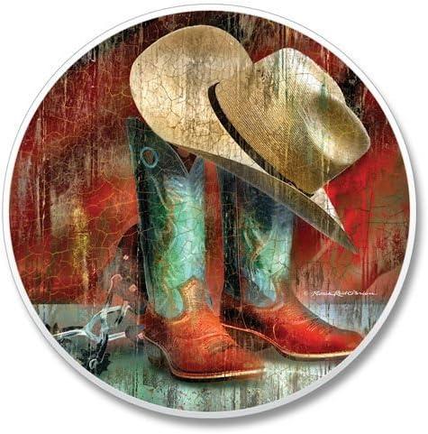 Western sombrero vaquero botas para colgar en para el viaje, solo ...