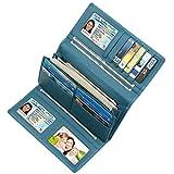 Dante Women RFID Blocking Wallet-Clutch Checkbook Wallet for Women(Light green)