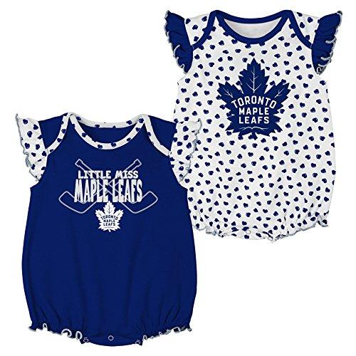 Outerstuff NHL Toronto Maple Leafs Newborn & Infant Hockey Hearts 2Piece Onesie Set, 3-6 Months, White