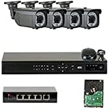 GW Security VDW4CH4C1361IP 4 Channel 1080P Network NVR HD IP Security Camera System