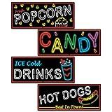 Neon Food Sign Cutouts   (4/Pkg)