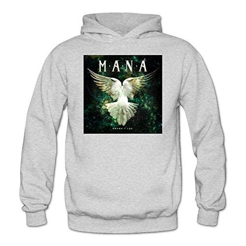 Tommery Women's Mana Band Logo Long Sleeve Sweatshirts Hoodie (Halloween Mike Myers Death)
