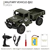 Remote Control Military Truck, Inkach Off-Road Army RC Car Alloy Frame Transport Truck, 2.4Ghz 1 :16 4WD RTR Controller Electric Trucks Vehicle