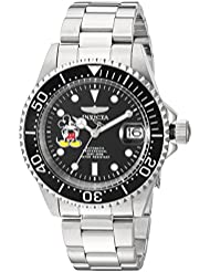 Invicta Mens Disney Limited Edition Automatic Stainless Steel Casual Watch, Color:Silver-Toned (Model: 22777)