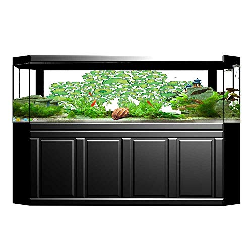 Trinity Patterns (UHOO2018 Background Fish Tank Sticker Collection Irish Shamrock Figure Made with Small Clover Patterns Holy Trinity Symbol Graph Aquarium Sticker Wallpaper Decoration 23.6