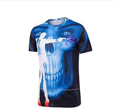 Camisa de compresión para Hombre Servicio de caída de Velocidad Camiseta de Motocross de Bicicleta de montaña, Camiseta de Manga Corta, Camiseta, XXXL: Amazon.es: Ropa y accesorios