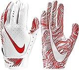 Nike Adult Vapor Jet 5.0 Receiver Gloves 2018 (White/University Red, Small)