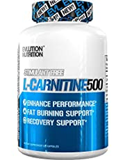 Evlution Nutrition Carnitine500 Capsules 500 mg of Pure L-Carnitine in Each Serving