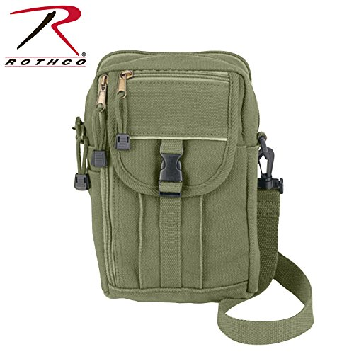 Rothco H/W Canvas Classic Passport Travel Pouch, Olive (Daves Olives)