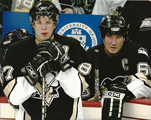 Hockey Pittsburgh Penguins Mario Lemieux & Sidney Crosby - 8