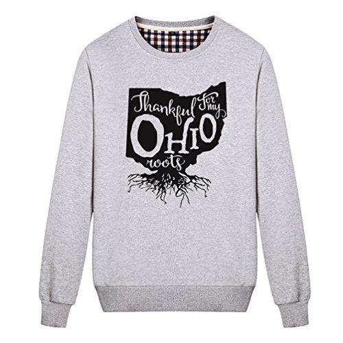 Destinyhand Unisex Home Roots State Ohio Sweatshirt (Grey Medium) -