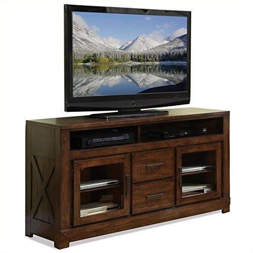 Riverside Furniture Windridge TV Console in Sagamore Burnished Ash