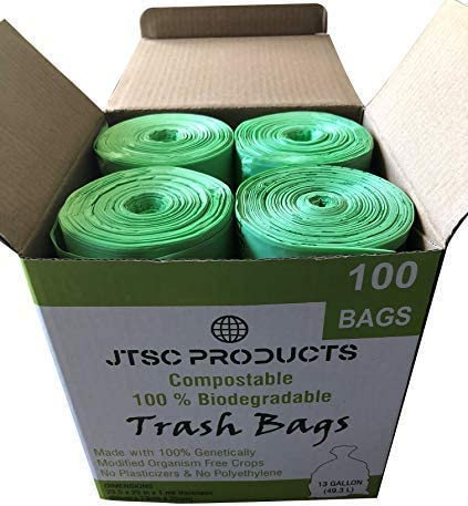 JTSC Products 13 gallon compostable trash bag is one of the strongest trash bags around