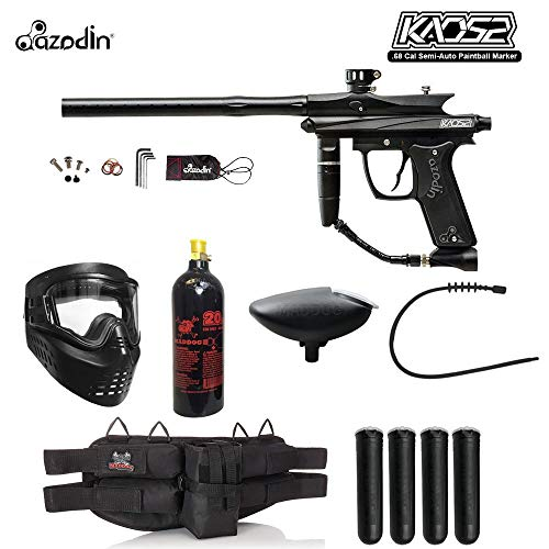 Maddog Azodin KAOS 2 Silver Paintball Gun Package - Black