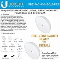 Ubiquiti PBE-5AC-400-ISO 2-PACK PRE-CONF PowerBeam AC ISO 5GHz 25dBi ISO 25+km