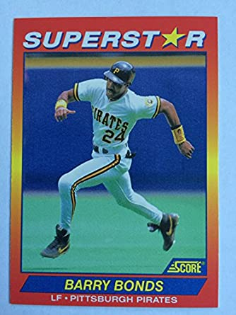 Amazoncom 1992 Score Superstar 26 Barry Bonds Nmm Near