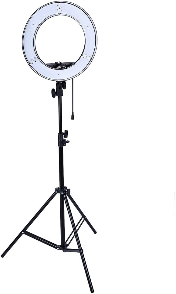 YAYONG LED Ring Light 14inch Camera Phone Lighting Photography Dimmable Ring Lamp with 200CM Photo Tripod