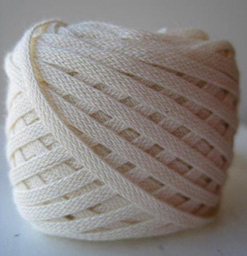 Organic Cotton Hand-Dyed Flat Braid Trim - Natural - 25 Yards (Trim Flat Braid)