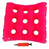 Airgoesin Air Medical Donut Cushion Inflatable Seat Mattress for Hemorrhoid, Coccyx Pain, Bedsores, Back and Tailbone Pain Relief, Child Birth, Pregnancy, etc, Anti Decubitus Hip Mat Pad with a Pump