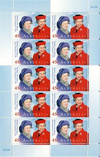 Australia Queen Mother & Queen Elizabeth II MNH Postage Stamps Scott #1747 Sheet of 10