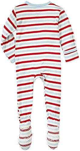 Kickee Pants Print Footie (Baby) - Balloon Stripe-3-6 Months