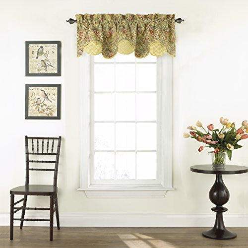 """WAVERLY Swept Away Window Valance, 60""""x18"""", Berry for sale  Delivered anywhere in USA"""