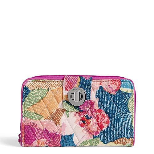Vera Bradley RFID Turnlock Wallet, Signature Cotton, Superbloom (Womens Rfid Wallets)