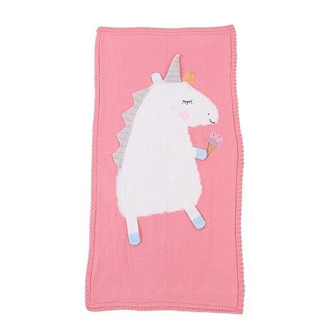 Manta para bebé, manta de punto, suave y dulce unicornio ...