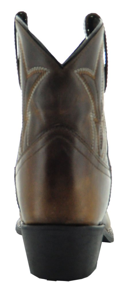 Soto Boots Janis Women's Ankle Cowboy Boots by M3003 B075FZXYL5 9.5 B(M) US|Brown