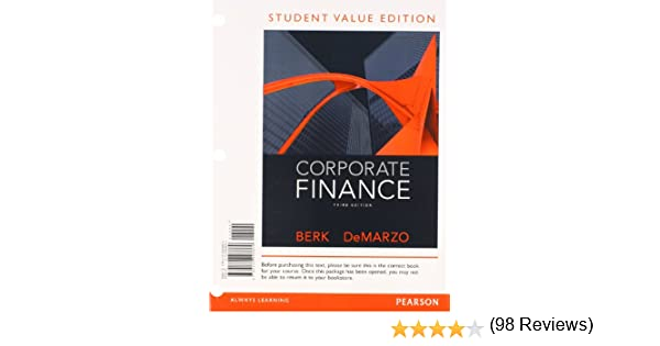 Amazon corporate finance student value edition 3rd edition amazon corporate finance student value edition 3rd edition 9780132993869 jonathan berk peter demarzo books fandeluxe Image collections