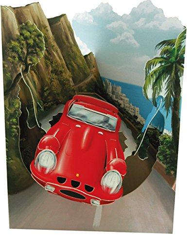 Santoro Interactive 3D Swing Greeting Card, Sports Car (Cars Greeting Cards)