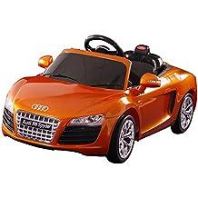 Dexton Audi R8 Spyder 12-Volt Battery-Powered Ride On, Orange