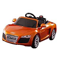 Dexton Audi R8 Spyder 12-Volt Battery-Powered Ride On, Orange