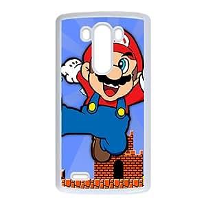 Caso G3 LG Cubiertas Blanca Super Mario Bros duro 22D caja del teléfono K3N8GB