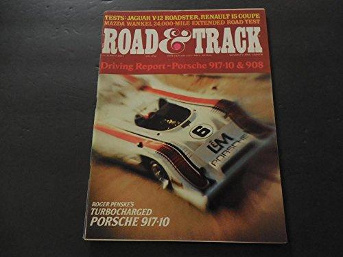 Road Track Oct 1972 Poesche 917-10; Jaguar V-12 Roadster; Renault ()