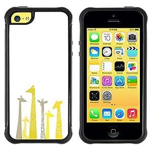 "Pulsar iFace Series Tpu silicona Carcasa Funda Case para Apple iPhone 5C , Jirafa Dibujo minimalista Limpio Blanca"""