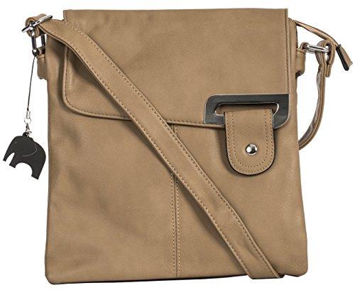 Charm Khaki Trim and Shop With Bag Trendy Branded Bag Shoulder Medium Silver Messenger Body Storage Cross Womens Protective a Big Handbag qRCTSS