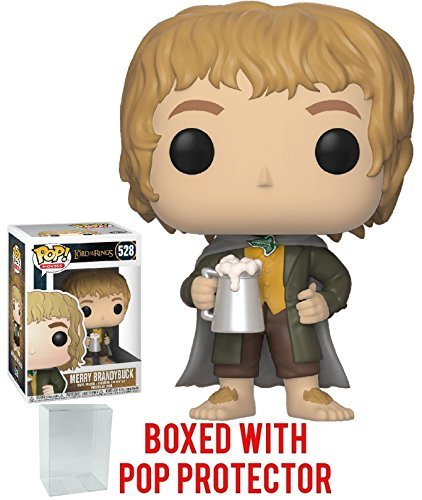 Funko Pop! Movies: The Lord of the Rings - Merry Brandybuck Vinyl Figure (Bundled with Pop Box Protector Case) ()