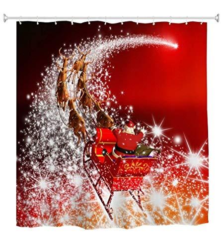Starlight Sleigh Mildew Resistant Waterproof Bathroom Fabric Shower Curtain Bath Curtain,48 X 72 inch ()
