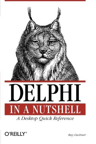 Delphi in a Nutshell ISBN-13 9781565926592